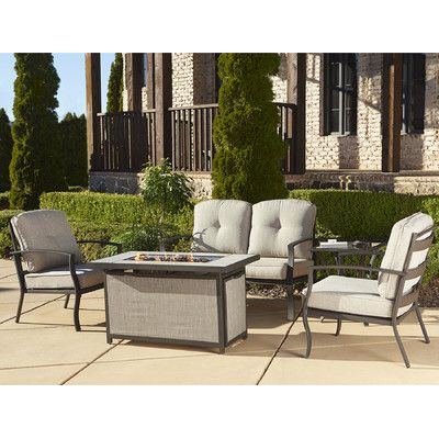 Cosco Home and Office Serene Ridge Aluminum Propane Fire Pit