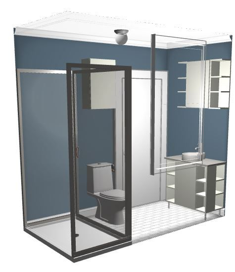 Bathroom Floor Plan With Stall Shower