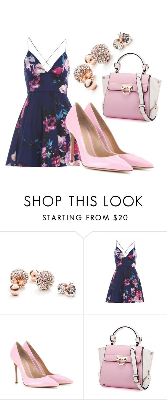 """""""Untitled #435"""" by gibberz on Polyvore featuring GUESS, AX Paris and Gianvito Rossi"""