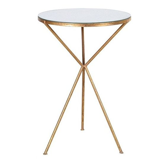 Gold Tripod Side Table 225 Liked On Polyvore Featuring Home