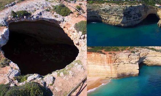 Algar do Benagil filmado em 4K, é uma das 10 cavernas mais bonitas do mundo