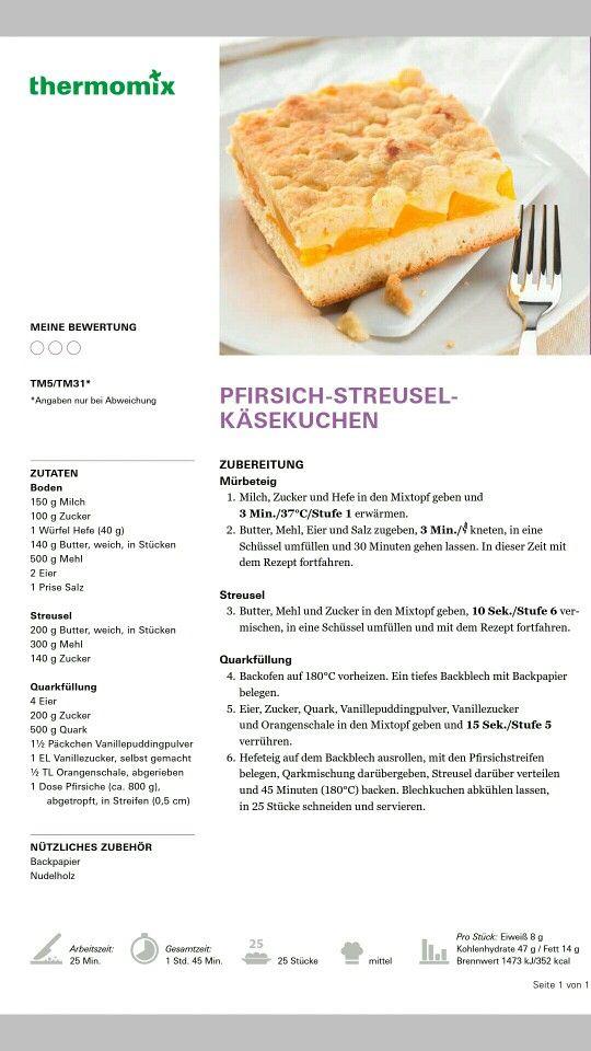 Pfirsich Streusel Käsekuchen