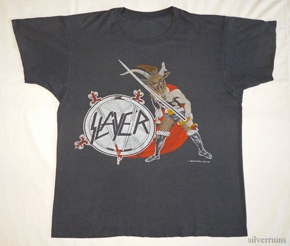 Slayer Vintage Concert Shirt 80's Tour T Haunting The Chapel 1986 Promo | eBay
