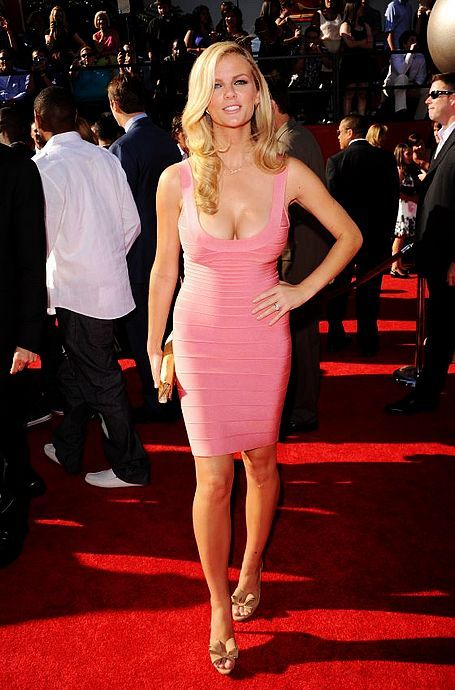 Pink Herve Leger Brooklyn Decker Dress Sale