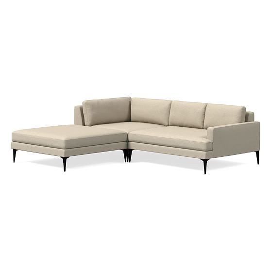 Andes 3 Piece Chaise Sectional In 2020 Sofa Seat Cushions
