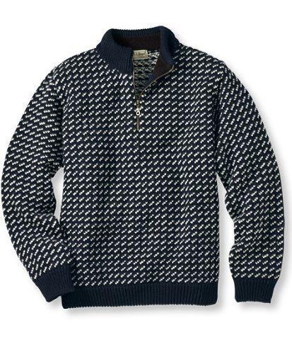 L.L. Bean - Bean's Norwegian Sweater, Quarter Zip