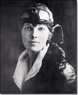 Amelia Earhart, because no woman did it before