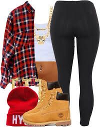 Image result for cute outfits for girls to wear with timberlands