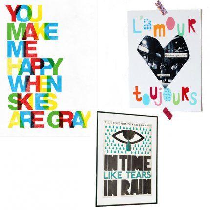 J'habille mon mur d'… affiches aux lettres stylées