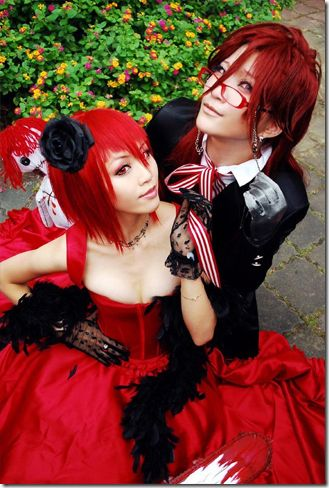 Black Butler Grell and Madam Red