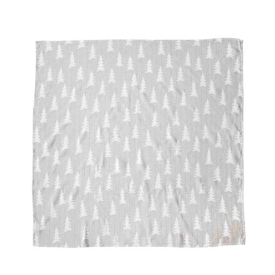 Großes, graues Tuch in den Maßen 120 x 120 cm, bedruckt mit vielen kleinen…