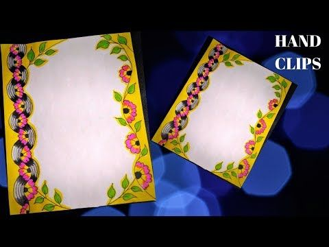 Border Designs On Paper Project Work Designs Borders For Projects File Decoration Idea Youtub File Decoration Ideas Page Borders Design Border Design