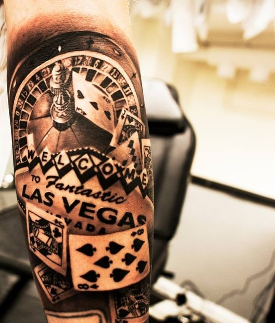 las vegas gambling tattoo