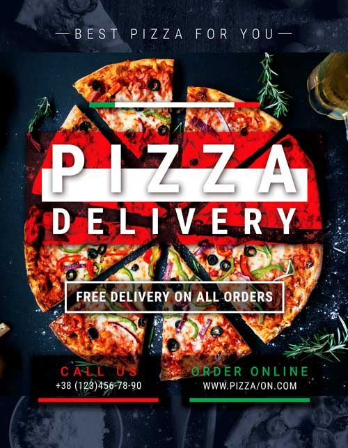 Pizza Delivery Free Flyer Template Free Flyer Templates Free Psd Flyer Templates Restaurant Flyer