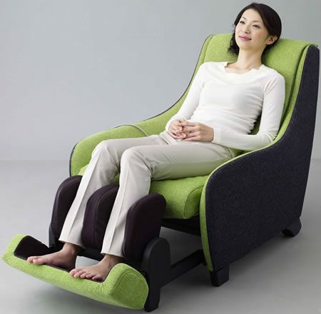 The Panasonic EP-MS40 massage chair comes in a variety of colors with removable, washable, interchangeable upholstery. Massage Chairs We Love at Design Connection, Inc. | Kansas City Interior Design http://designconnectioninc.com/blog/ #MassageChair #InteriorDesign