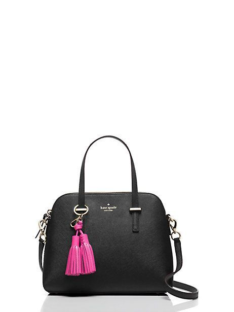 leather double tassel keychain - Kate Spade New York