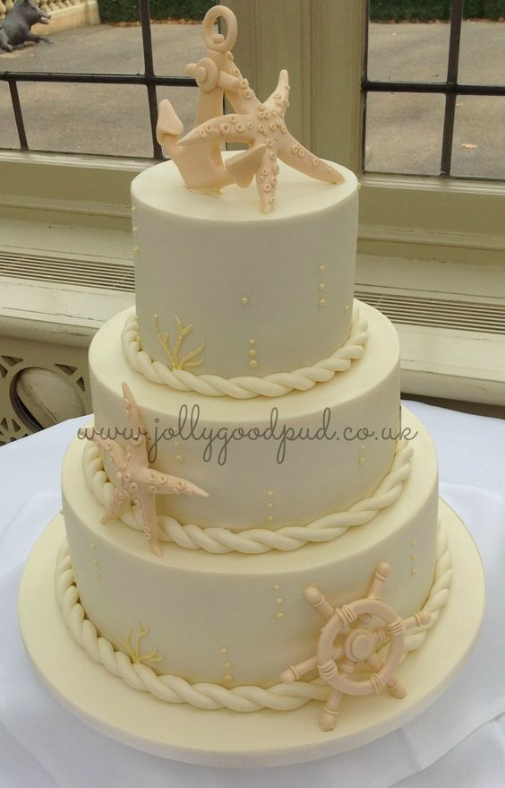 Art Décor: Nautical Wedding Cake From The Jolly Good Pud Company Www