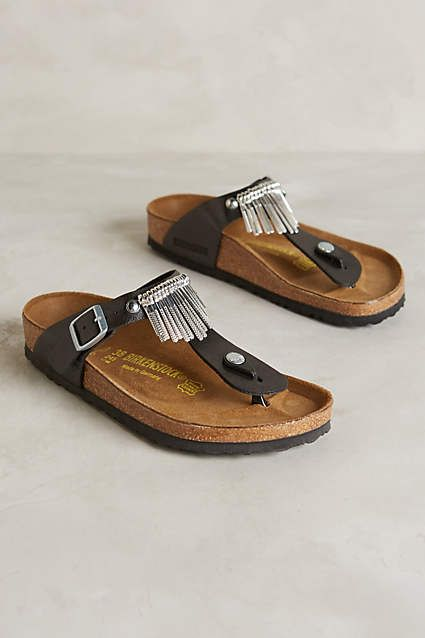 Birkenstock Gizeh Fringe Sandals - anthropologie.com:
