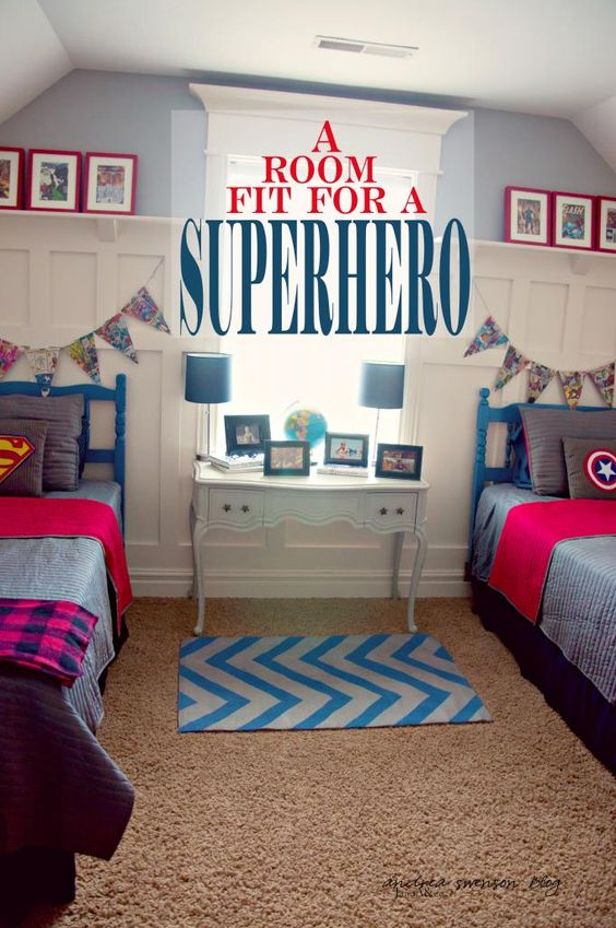 Superhero Room Design: Superhero, Boys Superhero Bedroom And The Banner On Pinterest