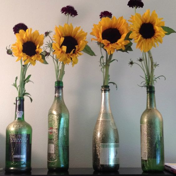 Whimisical sunflower centerpieces th bday party