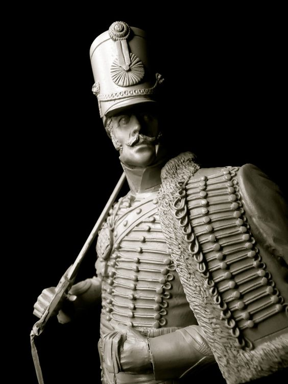 1 9th Scale Resin Bust Captain of Hussars in Rouleau w Drawn Sabre M Corry | eBay