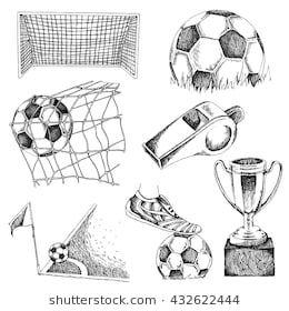 Design Elements Of Soccer Doodle Illustration Eps10 Balones De Futbol Dibujo Dibujos De Futbol Dibujos Deportivos