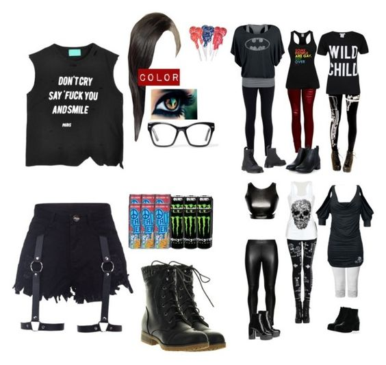 """""""Day 70-100 day Challenge"""" by destiny-demon ❤ liked on Polyvore featuring 2LUV, Taylor, NIKE, Studio, ONLY, Dr. Martens, Refresh, Marc Jacobs and Spitfire"""
