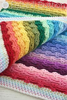 Chasing Rainbows Blanket.  Paid pattern ($5.50) but I really like the textures.