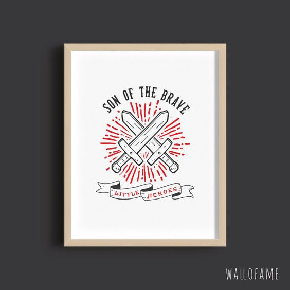 Son of the Brave Printable Wall Art Typography for by WallOFame