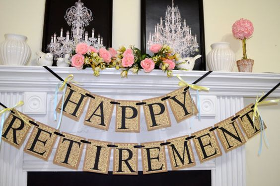 Happy Retirement Banner Congratulations Sign by DCBannerDesigns, $30.00