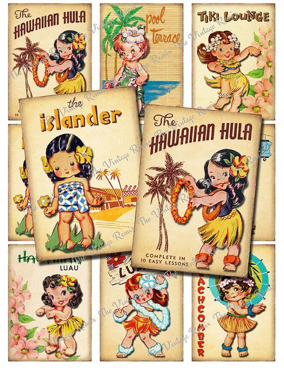 Explore Vintage Hawaiian, Digital Collage - pinterestcom