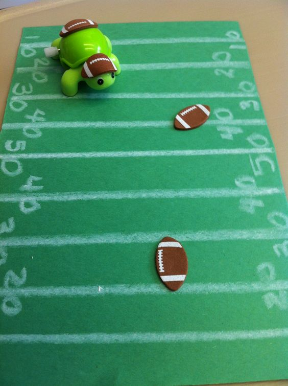 Biggest Backyard Football Hits : Football crafts, Football field and Football on Pinterest
