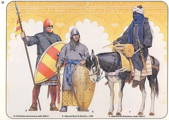 Al-andalus warriors 12th century C.E. by cool-art, via Flickr