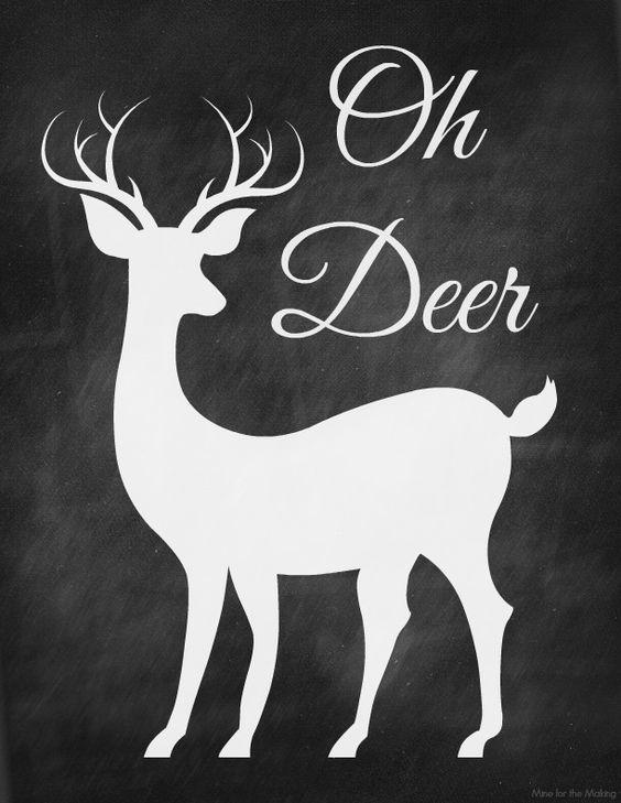 Christmas print deer and chalkboards on pinterest for Chalkboard stencils printable