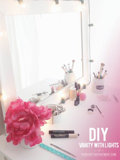 best ideas about dyi vanity mirror with lights lights around mirror and the mirror on pinterest. Black Bedroom Furniture Sets. Home Design Ideas