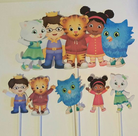 Daniel Tiger cupcake toppers and centerpiece set by JCPaperPlace