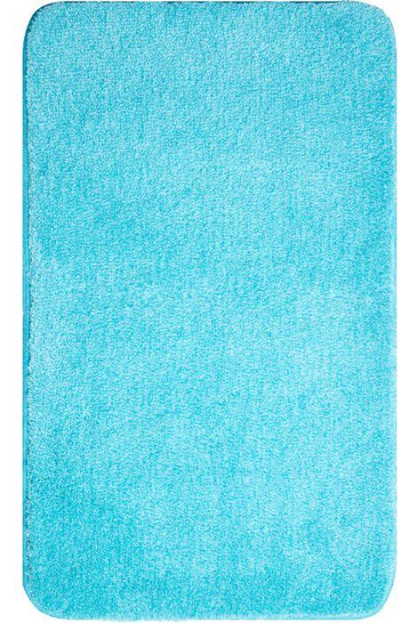Der flauschige Badteppich Lex in aqua hat eine Florhöhe von 32 mm und ist aus Polyacryl ultrasoft. Der Teppich ist waschbar bei 40°C und geeignet für Fußbodenheizung. Die Rückseite ist rutschhemmend beschichtet.