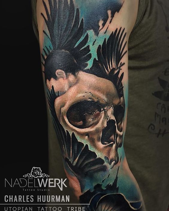 @charlyhuurman of the cool tattoos I did last week in @nadelwerk_austria Uno de los tattoos q hice en Austria la semana pasada  Done with, Hecho con: @ezcartridgecouk cartridges @inkedigram Aftercare @intenzetattooink colours  #tattoovalencia #artcollective #instart #tattoo_of_the_day #utopiantattootribe #inkspiration #tattooistArtMagazine #charleshuurman @thebestspaintattooartists @utopiantattootribe @nadelwerk_austria