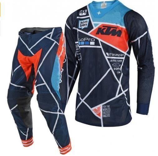 Biker Outfit Ktm Fish Motocross Suit Pants Jersey Combos Moto Dirt Gear Set Biker Outfit Dirt Bike Riding Gear Riding Gear