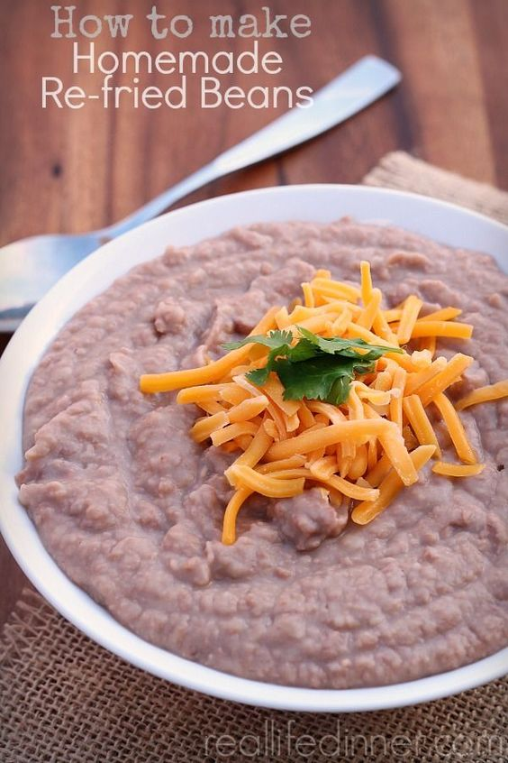 How to make Authentic Homemade Re-fried Beans! So much easier to make then you would think. These beans have made me famous with my family and friends.   reallifedinner.com