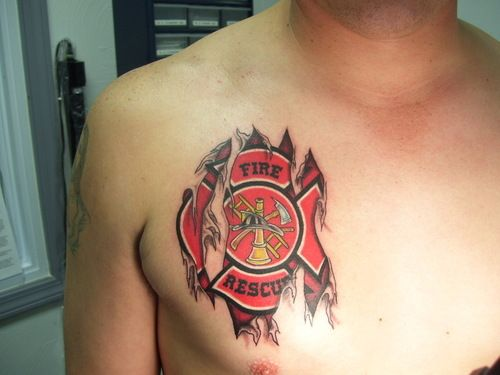 Boyfriends maltese cross and sweet on pinterest for Firefighter tattoos and meanings