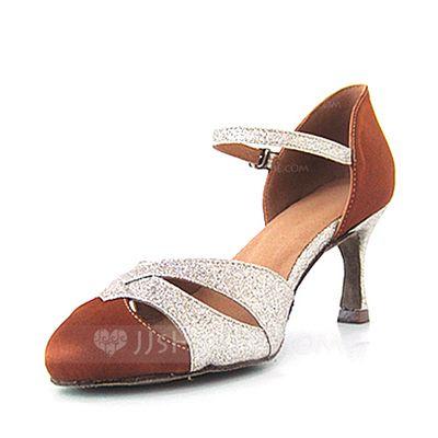 Dance Shoes - $26.99 - Women's Satin Sparkling Glitter Heels Pumps Modern Dance Shoes (053016437) http://jjshouse.com/Women-S-Satin-Sparkling-Glitter-Heels-Pumps-Modern-Dance-Shoes-053016437-g16437