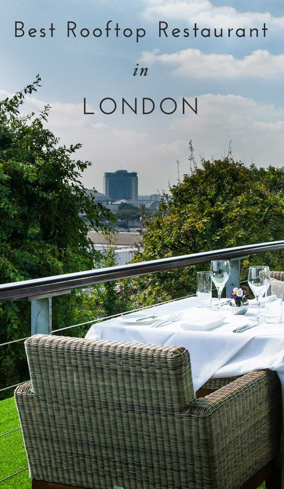 Travel Tip : Headed to London? Check out this amazing rooftop restaurant where you can dine 100 feet above the city. Click through for details and a map!