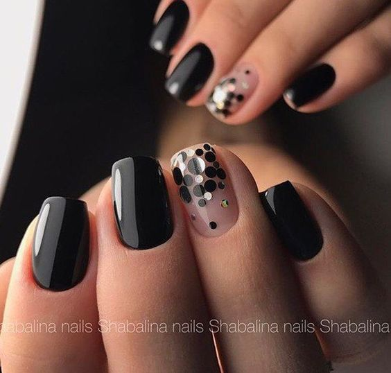 52 Trendy Black Nails Designs For Dark Colors Season Fall Winter