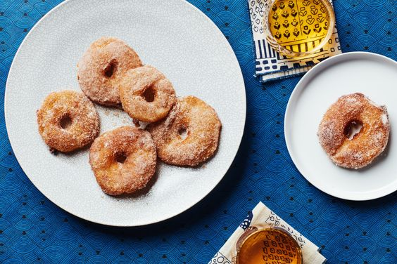 ... lend warm spice to these sweet fritters—just the thing for Hanukkah