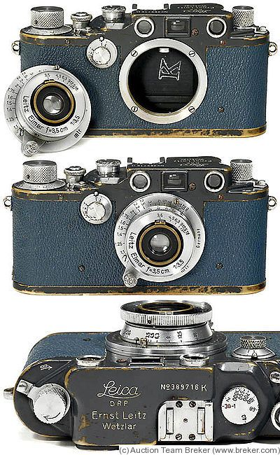 Leitz: Leica IIIc K German Navy, blue camera