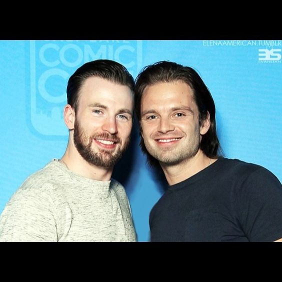Oh GAWD... The Boys... Fuk I'm missing them... Dammit!!! ❤️❤️❤️ {pic cred: Elenaamerican.tumblr}#sebastianstan #chrisevans #wintersoldier #winteriscoming #captainamerica #steverogers #SLCC #TheNeighbors #AO3 #My_Bucky_My_Steve