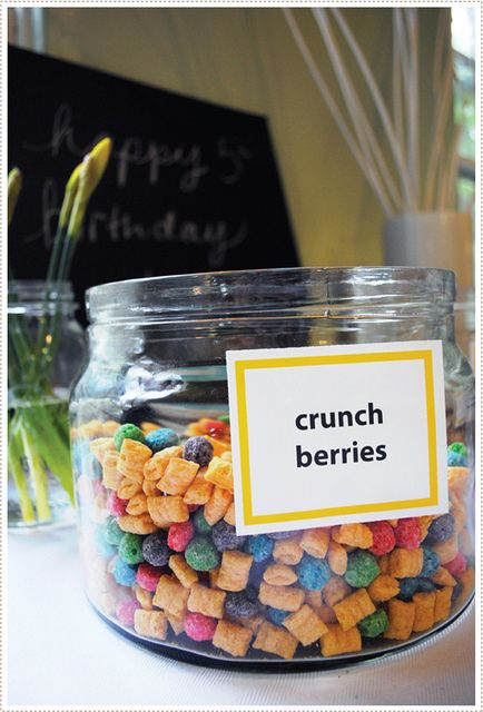 A cereal bar...mix your own & add toppings...too cute!!
