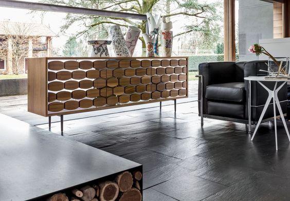 Credenza legno soggiorno, credenza moderna sala da pranzo HONEY