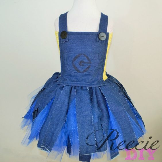 Minion Inspired Tutu Dress